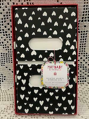 $15.95 • Buy Pottery Barn May Baby By Meg DeAngelis Painted Hearts Storage Bin - New With Tag
