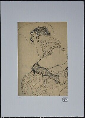 $ CDN148.51 • Buy Gustav Klimt 'Female Nude, Turned Left' 50 X 70 Cm Signed Limited Lithograph