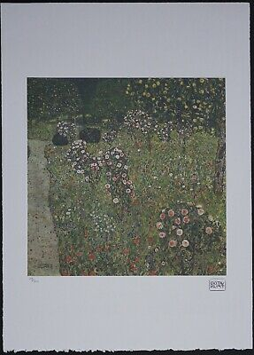 $ CDN148.51 • Buy Gustav Klimt 'Orchard With Roses' 50 X 70 Cm Signed Limited Lithograph