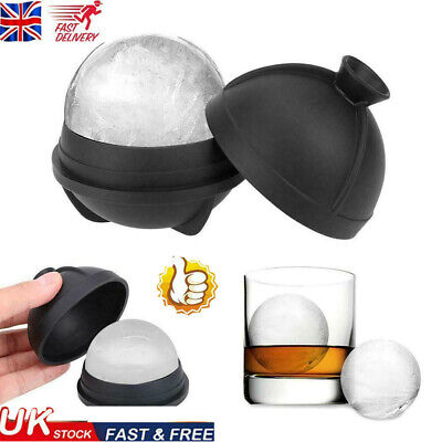 Ball Ice Cube Maker Mold Tray Large Big Sphere Whiskey DIY Round Mould • 4.75£