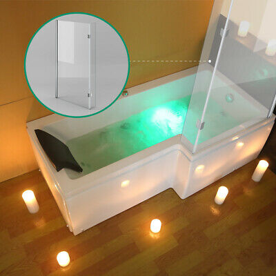 Whirlpool Jacuzzi Right Hand L Shape Shower Bathtub With Waste And Light 1700mm • 699£