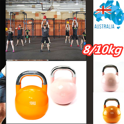 AU40.22 • Buy Competition Kettlebell 8KG/10KG Steel Pro Grade Kettle Solid Weight Home Fitness