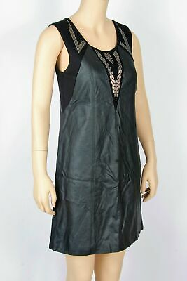 £24.82 • Buy NWT Nicole Richie For Impulse Faux Leather Dress-Size 4