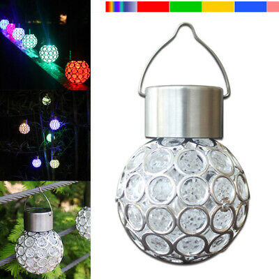 Solar Powered Hanging Light Bulbs Garden Lights Color Changing Outdoor Patio • 5.49£