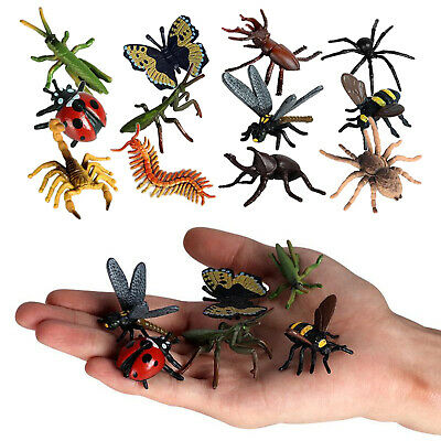 £4.66 • Buy Mini Realistic Insect Model Figures Toys For Kids Bugs Action Jungle Decor