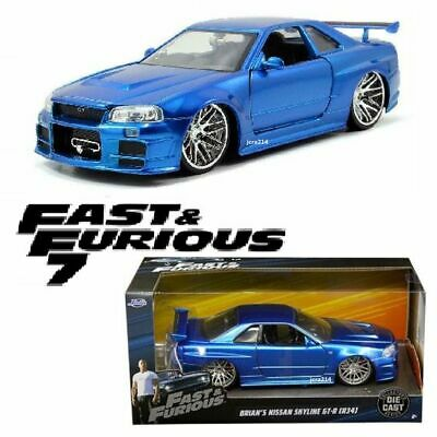 AU69 • Buy Fast And The Furious 2002 Nissan Skyline GT-R R34 1:24 Scale Die-Cast Metal Car