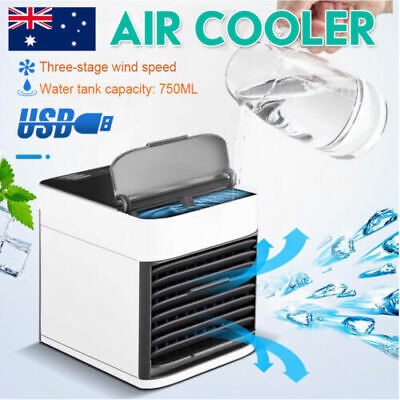 AU17.99 • Buy Portable Mini Air Cooler Fan Air Conditioner Cooling Fan Humidifier AC AU STOCK