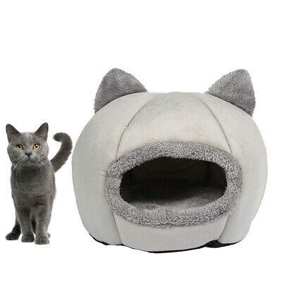 AU21.99 • Buy Large Cat Bed Cave Wool Cozy Pet Dog Igloo Bed Warm House Nest Kennel Comfy Dog