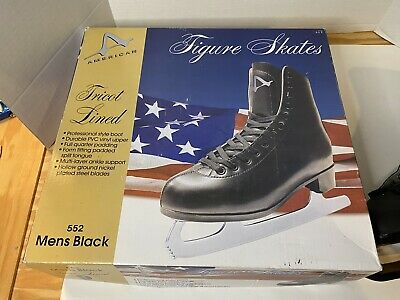 $37.99 • Buy American Athletic Men's Tricot Lined Figure Skates Size 9, Black, Style 552
