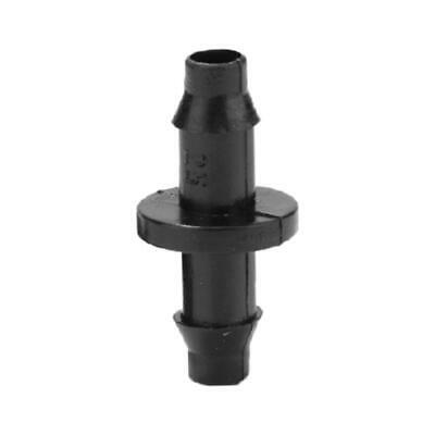 100pcs 1/4 Inch Straight Barbed Double Way Joint Drip Irrigation Connector • 4.84£