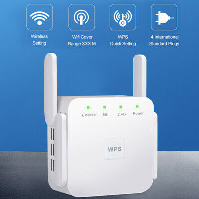 AU37.52 • Buy 5 Ghz WiFi Repeater Wireless Extender 1200Mbps Amplifier Booster Wifi Repiter