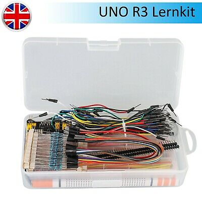 Electronics Starter Kit For Arduino UNO R3 Breadboard LED Jumper Wire Cable UK • 13.05£