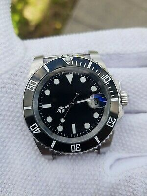 £56.99 • Buy Mens Parnis Submariner Homage Watch Diver Luxury Automatic Black Bezel UK Stock!