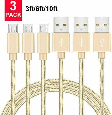 AU16.95 • Buy Heavy Duty Micro USB Fast Charger Data Cable Cord For Samsung Android HTC LG US