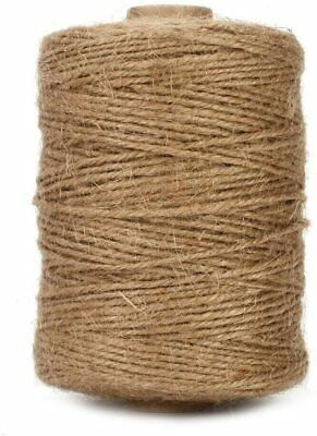 Natural String 3Ply Jute Rope For Floristry,  DIY Arts, Decoration, (Brown) • 16.99£