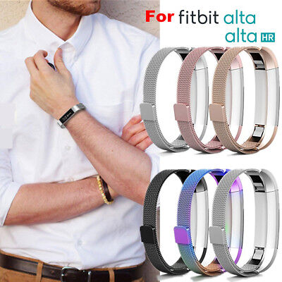 AU21.99 • Buy Stainless Steel Replacement Metal Wrist Band Strap For Fitbit Alta / Alta HR AU