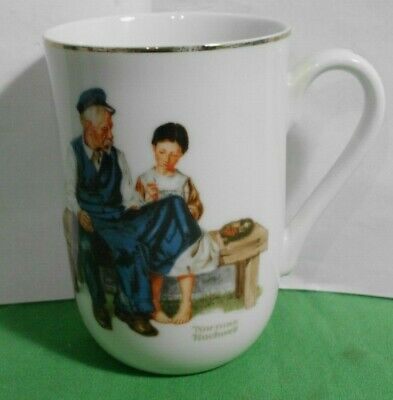 $ CDN4.36 • Buy Vintage Norman Rockwell Museum Collection 1982 Coffee Cup Mug Lighthouse Keeper-