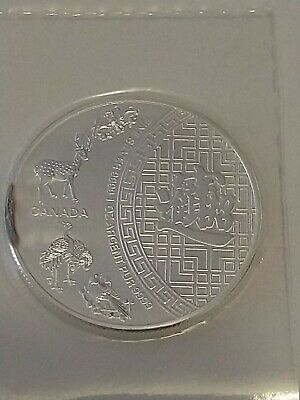 AU50 • Buy 2016 ~ 1~oz ~ $5 Canada ~ Pure .9999 Silver ~ 5 Blessings Coin ~ Sealed