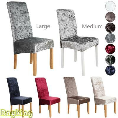 £3.99 • Buy Large Crushed Velvet Stretch Dining Chair Covers Protective Slipcover Home Decor