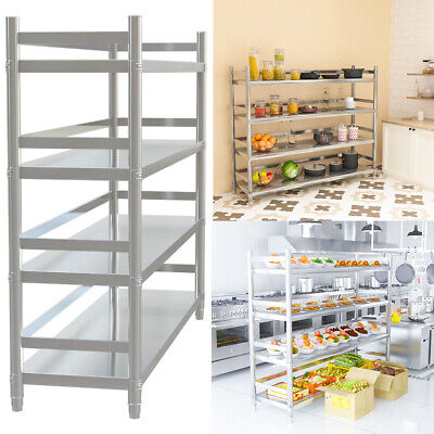 £129.95 • Buy 4/5 Tier Kitchen Shelf Stainless Steel Commercial Catering Shelving Storage Unit