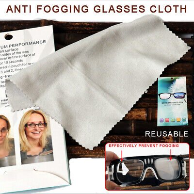 Reusable Anti-fog Glasses Lens Cleaning Cloth Soft Wiping Tool -- UK Seller • 3.69£