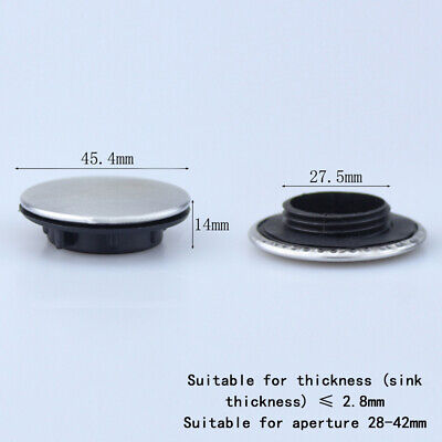 Kitchen Sink Tap Hole Blanking Plug Cover Plate Disk Brushed Finish 27.5mm Holes • 3.59£