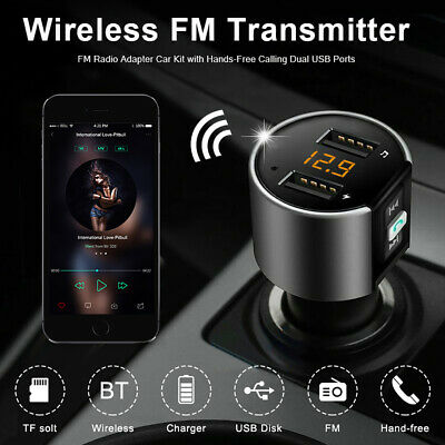 AU10.59 • Buy Bluetooth FM Transmitter Wireless In Car Radio MP3 Player USB Charger Handsfree