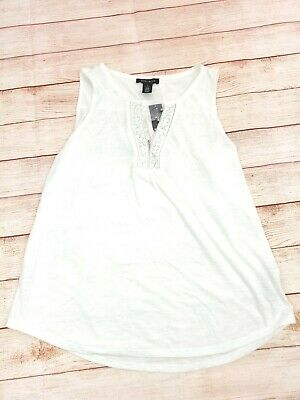 $ CDN30.39 • Buy White House Black Market WHBM Size L Button Up White Tank Top