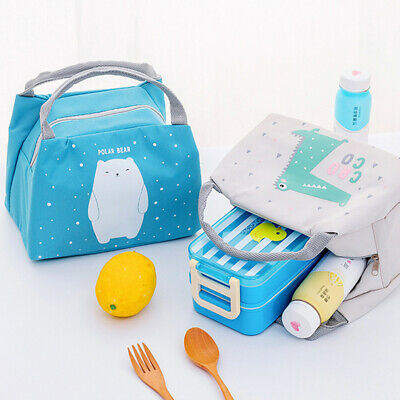 Kids Portable Insulated School Lunch Box Bags Picnic Storage Tote Thermal Case • 5.89£