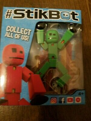New Original Boxed Stikbot Pets Animation Stickbots Figure ~ GREEN • 9.95£