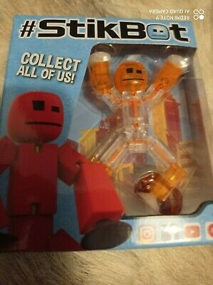 New Original Boxed Stikbot Pets Animation Stickbots Figure ~ ORANGE / CLEAR • 9.95£