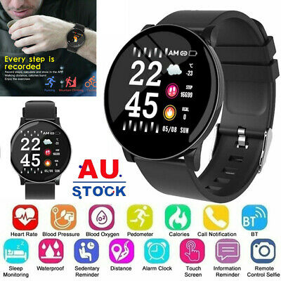 AU25.89 • Buy Waterproof Sport Smart Watch Bluetooth Heart Rate Blood Pressure For IOS Android