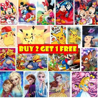 AU12.89 • Buy 5D DIY Full Drill Diamond Painting Embroidery Kit Kids Home Decoration Cartoon