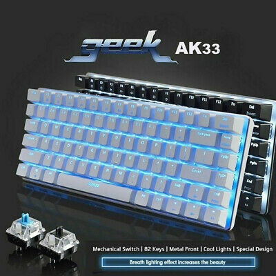 AU62.98 • Buy AK33 Mechanical Keyboard Blue Black Switch 82-Keys Backlit Gaming Keyboard Wired
