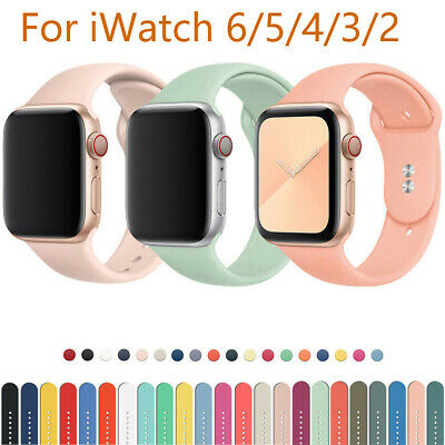 $ CDN4.74 • Buy 38/40/42/44mm Band Soft Sport Strap IWatch For Apple Watch Series 6/5/4/3/2/1/SE