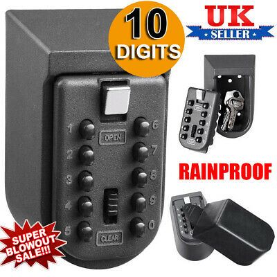 Outdoor High Security Wall Mounted Key Safe Box Code Lock Storage 4 Digit UK 9R • 11.69£
