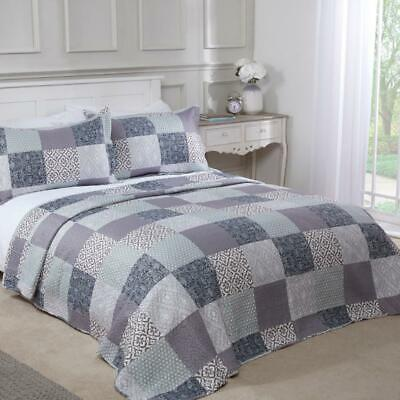 £27.99 • Buy Chiltern Bedspread Plus Pillow Shams Set Quilted Patchwork Multi Bedspreads
