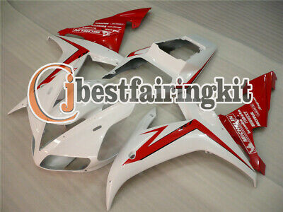 $379.80 • Buy Fit For 2002-2003 YZF R1 Injection Mold Bodywork Fairing Kit Cowl White Red A#11