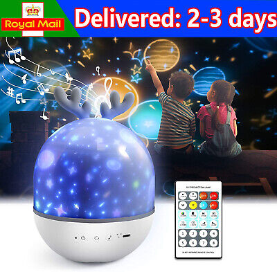 Baby Night Light Projecter With Music,Star Light Projecter For Kids Girl Boy UK • 17.89£
