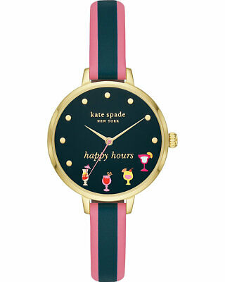 $ CDN112.73 • Buy Kate Spade New York Ladies Metro Gold-Tone Happy Hours 34mm Watch KSW1630