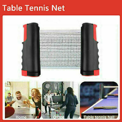 Indoor Retractable Portable Table Tennis Net Kit Ping Pong Games Replacement Set • 10.59£
