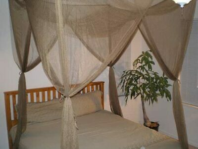 AU90.08 • Buy OctoRose ® 4 Poster Bed Canopy Netting Functional Mosquito Net Full Queen King (