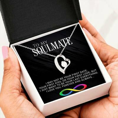 AU44.59 • Buy To My Soulmate Necklace, Valentines Day Heart Pendant Gift For Her, Girlfriend