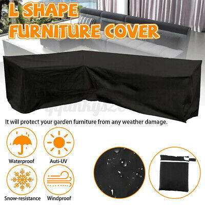 AU45.49 • Buy Outdoor L Shape Furniture Cover Waterproof Sofa Lounge Seat Couch Cover Garden