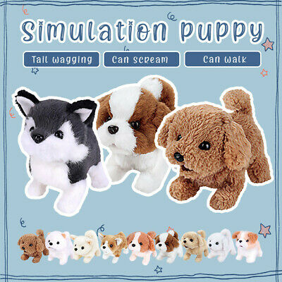 Electronic Robot Pet Dog Electric Simulation Children's Toy Bark&Walk Puppy Wag • 12.99£