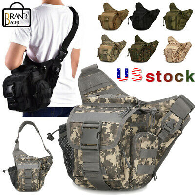 $25.88 • Buy Men Outdoor Tactical Shoulder Bag Sling Chest Pack Military Molle Backpack Pouch