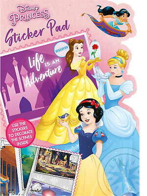 Disney Princess Shaped Sticker Pad Childrens Activity Stickers Stocking Filler • 2.15£