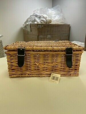 Wicker Hamper Basket Hand Woven Gift Boxes Traditional Box With Lid An • 9.99£