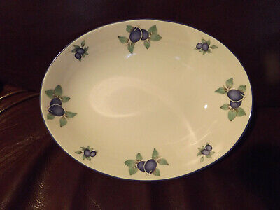 £13.99 • Buy Royal Doulton  Open Oval Serving Bowl  Everyday Blueberry Tc 1204