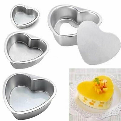 AU12.59 • Buy 3/5/6Inch Cake Moulds Heart Shape DIY Cakes Pastry Mould Baking Tin Pan Reusable